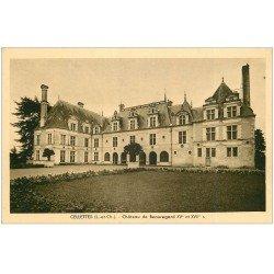 carte postale ancienne 41 CELLETTES. Château de Beauregard