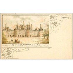 carte postale ancienne 41 CHAMBORD. Château. Carte Postale Capmartin vers 1900
