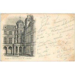 carte postale ancienne 41 CHAMBORD. Le Château. Aile François I° 1902