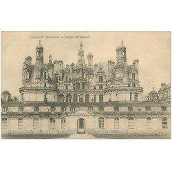 carte postale ancienne 41 CHAMBORD. Le Château. Façade méridionale 1905