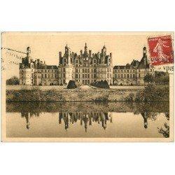 carte postale ancienne 41 CHAMBORD. Le Château. Façade Nord 1938