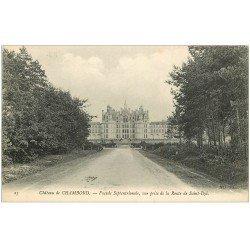 carte postale ancienne 41 CHAMBORD. Le Château. Façade route de Saint-Dié