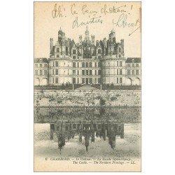 carte postale ancienne 41 CHAMBORD. Le Château. Façade septentrionale