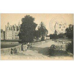 carte postale ancienne 41 CHAMBORD. Ponts du Cosson 1913