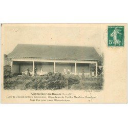 carte postale ancienne 41 CHAMPIGNY-EN-BEAUCE. Dépendances Jeunes Filles anémiques Tuberculose 1909