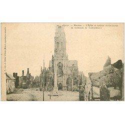 carte postale ancienne 08 MEZIERES. L'Eglise après bombardement de 1870-71. Carte Pionnière vers 1900 vierge