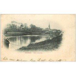 carte postale ancienne 08 MEZIERES. Pont d'Arches 1902 (coins mous)...