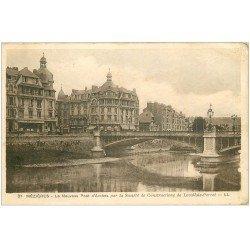 carte postale ancienne 08 MEZIERES. Pont d'Arches et Banque Société Générale