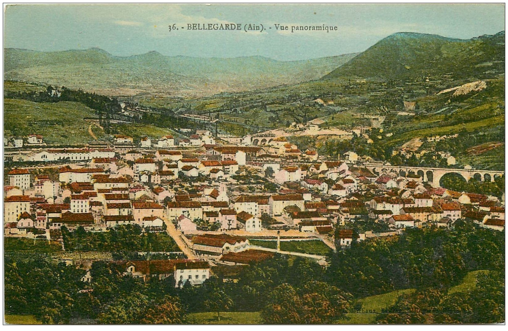 carte postale ancienne 01 Bellegarde. Vue panoramique