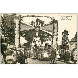 carte postale ancienne 41 LAMOTTE-BEUVRON. Concours Agricole. Camion Char