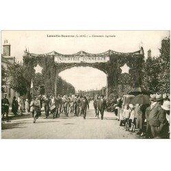 carte postale ancienne 41 LAMOTTE-BEUVRON. Concours Agricole. La Fanfare