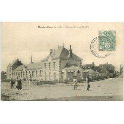 carte postale ancienne 41 MONDOUBLEAU. Groupe Scolaire 1907