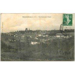 carte postale ancienne 41 MONDOUBLEAU. Vue à l'Ouest 1914
