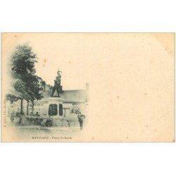 carte postale ancienne 41 MONTOIRE. Boucherie Place Saint-Denis vers 1900