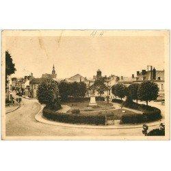 carte postale ancienne 41 MONTOIRE. Jardin Public Rue Saint-Denis 1942