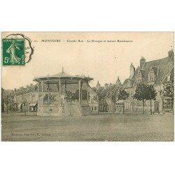 carte postale ancienne 41 MONTOIRE. Kiosque à Musique Grande Rue 1912