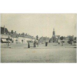 carte postale ancienne 41 MONTOIRE. La Grande Place 1917