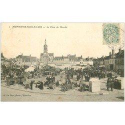 carte postale ancienne 41 MONTOIRE. Place du Marché 1906