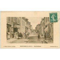 carte postale ancienne 41 MONTOIRE. Rue Saint-Denis 1911