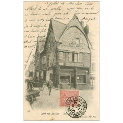 carte postale ancienne 41 MONTRICHARD. Serrurier Guitton Bruneau 1904