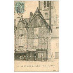 carte postale ancienne 41 MONTRICHARD. Cave à Vins et Pâtissier 1905