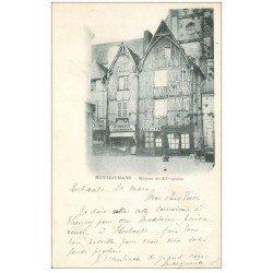 carte postale ancienne 41 MONTRICHARD. Hubert Pâtissier et Débit de vin 1903