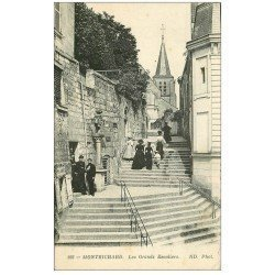 carte postale ancienne 41 MONTRICHARD. Les Grands Escaliers