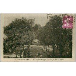 carte postale ancienne 41 MONTRICHARD. Tour Boulevard Philippe Auguste 1938