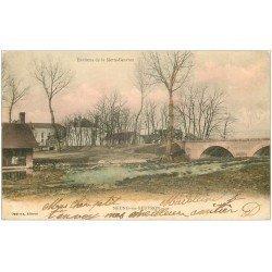 carte postale ancienne 41 NEUNG-SUR-BEUVRON. Lavoir et Pont 1903