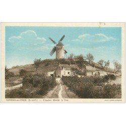 carte postale ancienne 41 NOYERS-SUR-CHER. Ancien Moulin à Vent 1936