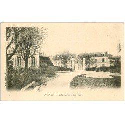 carte postale ancienne 41 ONZAIN. Ecole Primaire Supérieure vers 1900