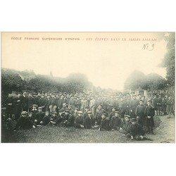 carte postale ancienne 41 ONZAIN. Elèves Ecole Primaire