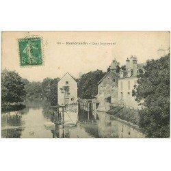 carte postale ancienne 41 ROMORANTIN. Ecluses Quai Jacquemard 1916