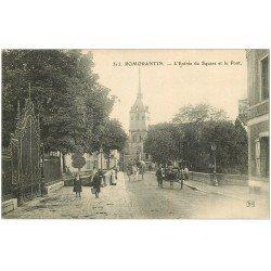 carte postale ancienne 41 ROMORANTIN. Entrée du Square et Pont 1908