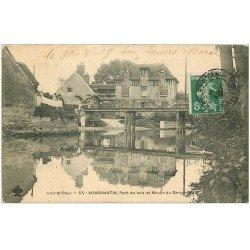 carte postale ancienne 41 ROMORANTIN. Moulin du Garçonnet et Pont de Bois 1909