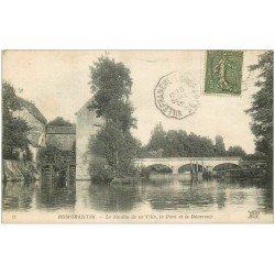 carte postale ancienne 41 ROMORANTIN. Moulin, Pont et Déversoir 1919