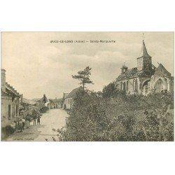 carte postale ancienne 02 BUCY-LE-LONG. Sainte Marguerite 1920. Erreur dans le Titre Bucz...