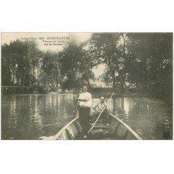 carte postale ancienne 41 ROMORANTIN. Tireurs de Sable sur la Sauldre 1914. Tampon Hôpital Militaire Meaux