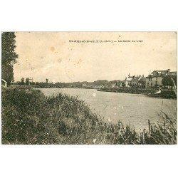 carte postale ancienne 41 SAINT-AIGNAN. Bord du Cher 1934. Timbre arraché