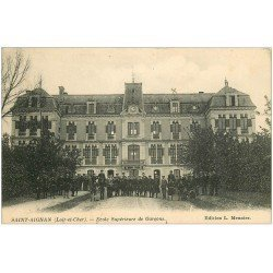 carte postale ancienne 41 SAINT-AIGNAN. Ecole Supérieure de Garçon 1913