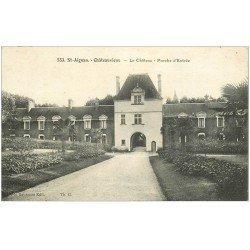 carte postale ancienne 41 SAINT-AIGNAN. Le Château. Porche 1932