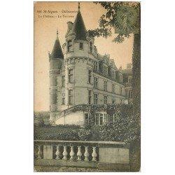 carte postale ancienne 41 SAINT-AIGNAN. Le Château. Terrasses 1920
