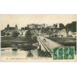 carte postale ancienne 41 SAINT-AIGNAN. Vue générale et Pont 1917