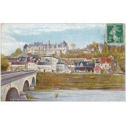 carte postale ancienne 41 SAINT-AIGNAN. Vue générale par Rochas 1908