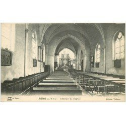 carte postale ancienne 41 SALBRIS. Eglise intérieur