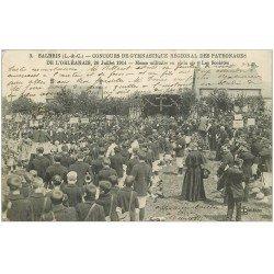carte postale ancienne 41 SALBRIS. Messe Militaire Concours de Gymnastique en 1914