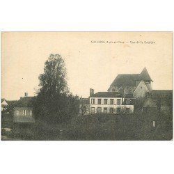 carte postale ancienne 41 SALBRIS. Vue de la Sauldre 1918