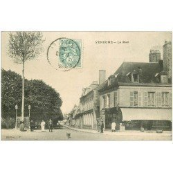 carte postale ancienne 41 VENDOME. Le Mail 1906 Tabac