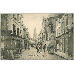 carte postale ancienne 41 VENDOME. Rue du Change 1906 Marchande de Quatre-Saisons