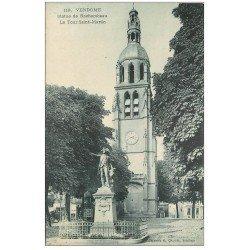 carte postale ancienne 41 VENDOME. Statue de Rochambeau